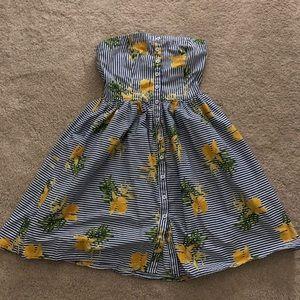 Strapless button up sun dress